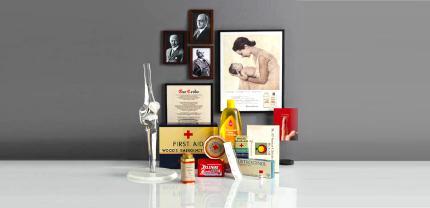 Produkter fra den historiske utvikling til Johnson & Johnson